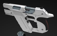 ArtStation - WIP// Front-Mag Short Barrel Concealed-Hammer SemiAuto Magnum…