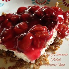 Turnips 2 Tangerines: Cherry Cheesecake Pretzel Dessert/Salad