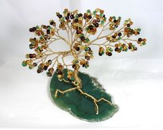 Murky Autumn Beaded Bonsai - Ming Tree. $38.00, via Etsy.
