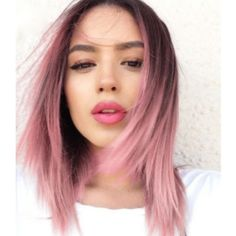 Cheap synthetic lace front wig, Buy Quality wig straight directly from China peruca cosplay Suppliers: Short Bob Synthetic Lace Front Wigs Straight Ombre Pink Synthetic Hair Short Bob Lac Front Wigs 2 Tones Peruca Cosplay Pink Ombre Hair, Pastel Pink Hair, Brown And Pink Hair, Straight Hairstyles, Cool Hairstyles, Hairstyles 2018, Medium Hair Styles, Short Hair Styles, Grunge Hair