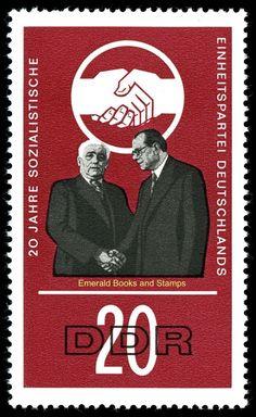 EBS East Germany DDR 1966 20 Years Socialist Unity Party Michel 1173-1177 MNH*   eBay