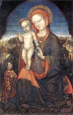 Jacopo Bellini - The Madonna of Humility, ca. 1440 (1400-1470)