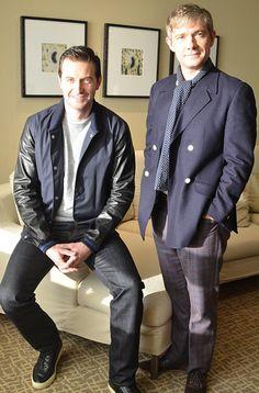 Richard Armitage and Martin Freeman