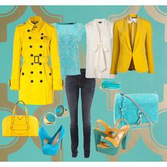 Mellow and Yellow,  Fashion created by digital-ruse