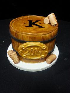 Cookie Jar Bakeshop I Custom Cakes I Grooms Cake I Wine Keg Grooms Cake I Keg Themed Grooms Cake