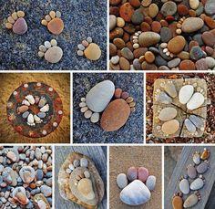 Pebble Feet || #DIY #nature #Craft #garden #kids #rocks #decoration