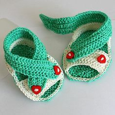 Baby Cross Straps ... by OasiDellaMaglia | Knitting Pattern - Looking for a knitting pattern for your next project? Look no further than Baby Cross Straps Sandals from OasiDellaMaglia! - via @Craftsy