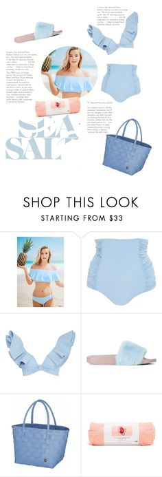 """into the blue"" by changethisonce ❤ liked on Polyvore featuring Tori Praver Swimwear, Johanna Ortiz, Dolce&Gabbana and ban.do"