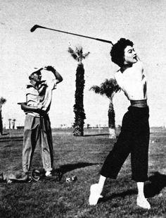 Frank Sinatra & Ava Gardner #golf #legends