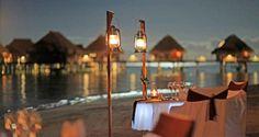 Hilton Moorea Lagoon Resort and Spa - Romantic dining under the stars
