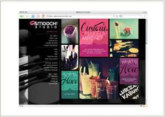 Web site design © Think Baseline, for Smooch! Studio (makeup boutique) #web design #graphic design http://www.smoochstudio.com