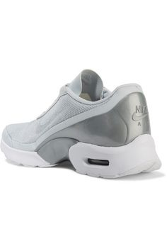 6f3cbb931a2b5d Nike - Air Max Jewell Leather-trimmed Mesh And Plastic Sneakers - Silver  https