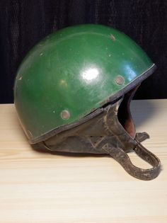 "Rare vtg. 50s KOVONA KARVINA Motorbike Scooter ""Coconut"" helmet Czechoslovakia"