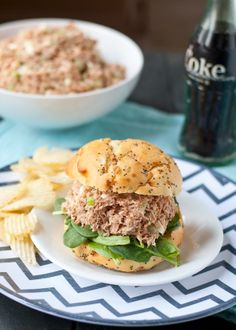 Wasabi Cream Cheese Ham Salad | Neighborfoodblog.com  #SundaySupper #5ingredientrecipe