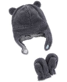 f98fafcc349f Carter s Baby Boys or Girls Fleece Hat  amp  Mitten Set - Blue Carters Baby  Clothes