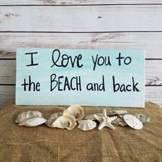 BEACH SIGN beach decor I love you to the beach and back beach House Sign Wooden Sign Beach Quote Coastal decor beach gift porch sign by ThePeculiarPelican Beach Cottage Style, Coastal Style, Coastal Decor, Coastal Living, Seaside Style, Seaside Decor, Beach House Signs, Beach House Decor, Beach Condo