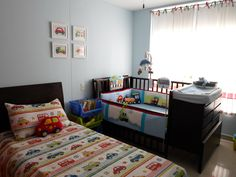 Transportation themed toddler bed and nursery