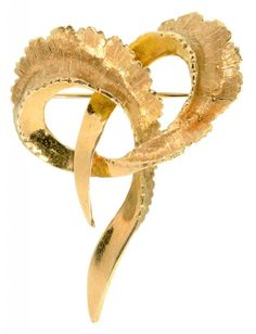 AN 18CT GOLD KNOT BROOCH, 9.5G  Sold @ Mellors & Kirk