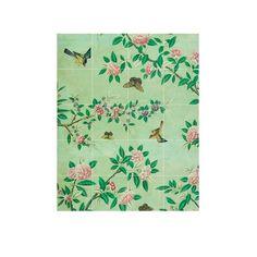 IXXI muurdecoratie V&A Panel of a Chinese Wallpaper 100 x 80 cm - Groen - afbeelding 1
