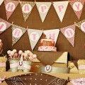Pink Girly Farm Barnyard Barn Themed Birthday Party