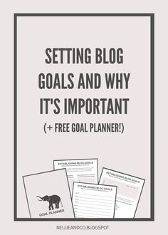 Setting goals in general is super important, but setting blog goals is even more. Take this free Goal Planner and get set for 2016!