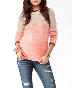 Chunky Multi-Colored Sweater #sweaterweather