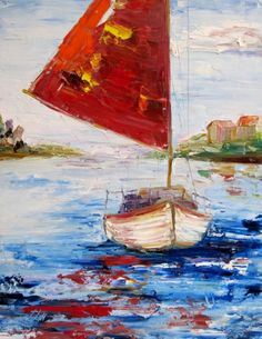 Red Sail, painting by artist Delilah Smith