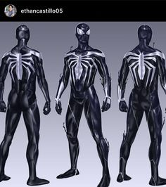 Spiderman Suits, Black Spiderman, Spiderman Art, Amazing Spiderman, Comic Book Characters, Marvel Characters, Comic Books Art, Comic Art, Marvel Comic Universe