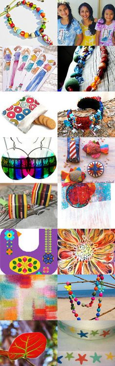 Multicolored stories by Marie ArtCollection on Etsy--Pinned with TreasuryPin.com