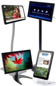 Flat screen and tablet stands.