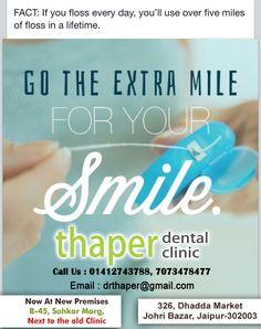 To Book an appointment please visit us : www.thaperdentalclinic.com Or Contact us- 7073478477, 7073478479  Branches - B 45 Sahkar Marg and Johari Bazar #thaperdentalclinic #jaipur #dentist #saycheese #DrRajeevThaper #DrReenaThaper #smile #HappyDentalCare #DentalHospitalJaipur #DentistInJaipur #HappyTeeth #Askthedentist #HealthyTeeth Dental Hospital, Healthy Teeth, Pain Management, Dental Care, Jaipur, Your Smile, Appointments, Branches, Clinic