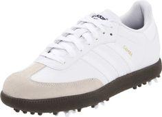 Samba Golf Shoe (Little Kid/Big Kid) synthetic Manmade sole Adidas Golf, Adidas Sneakers, Kids Golf Shoes, Samba, Big Kids, Athletic, Jr, Leather, White White