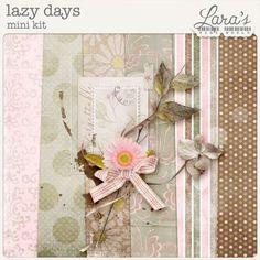 Lazy Days Mini Kit by Lara's Digi World Site Design, All Design, Digital Scrapbooking Freebies, Torn Paper, Lazy Days, Paper Background, Word Art, Vintage Art, Merry Christmas