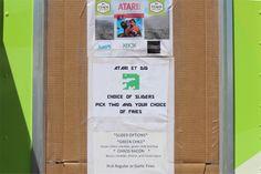 Food truck menu from the landfill in Alamogordo, NM #AtariDig #DiggingET