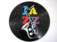 Tableau disque vinyle JAZZ - 26 €