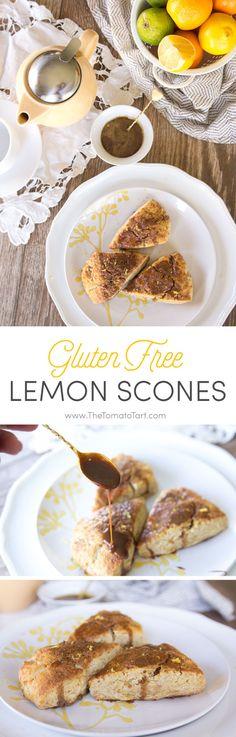 Gluten Free Scones with Vanilla Bean and Lemon from The Tomato Tart http://www.thetomatotart.com