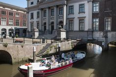 Viewing the historic city centre of Dordrecht from its canals