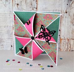 Pinwheel front card - First Edition Storyteller by DT member Lyndsey