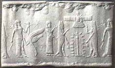 Enki or Ea-in from Sumer (merman god)