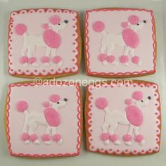 pink poodle decorated cookies