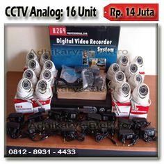 16 Kamera CCTV 800TVL