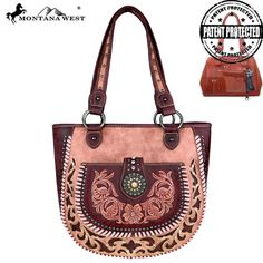 MW424G-8573 Montana West Concho Concealed Carry Tote-Pink $62.99 #ConcealedCarryPurses #MontanaWest #Womens #unspokenfashion #fashion #onlineshopping #boutique #stylish #trending #clothing #shoes #handbags #corsets #costumes