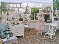 My booth at Chateau De Fluers