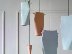 Ceramic pendant lamp DENT by Miniforms design Skrivo