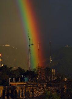 Rainbow over the city of Bogota #Colombia viaje
