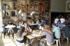 By our count, around 40 independent coffee shops and cafes opened in 2012 in New York City, with just over half in Manhattan, a couple in Queens, and the remainder in Brooklyn. Description from projectlatte.com. I searched for this on bing.com/images