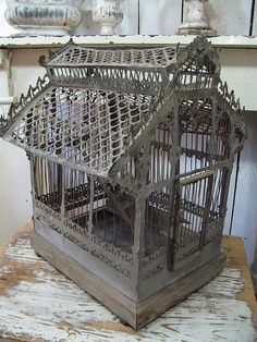 Awesome diy french country decor are offered on our internet site. Take a look and you wont be sorry you did. French Country Rug, French Decor, French Country Decorating, Antique Bird Cages, The Caged Bird Sings, Beautiful Birds, Bird Houses, Design, Decorating Ideas
