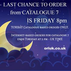 I will be collecting ALL catalogues in the TORBAY area today. LAST CHANCE to order is 8 pm tonight.  #torbay #brixham #paignton #torquay