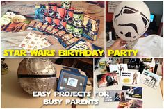 Epic Star Wars Birthday Party with FREE PRINTABLES!!! Easy project ideas for a great party!