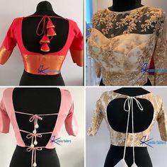 Stylish Blouse Design, Fancy Blouse Designs, Blouse Neck Designs, Blouse Patterns, Saree Tassels Designs, Indian Fashion Dresses, Fashion Blouses, Blouse Models, Heartbreak Wallpaper